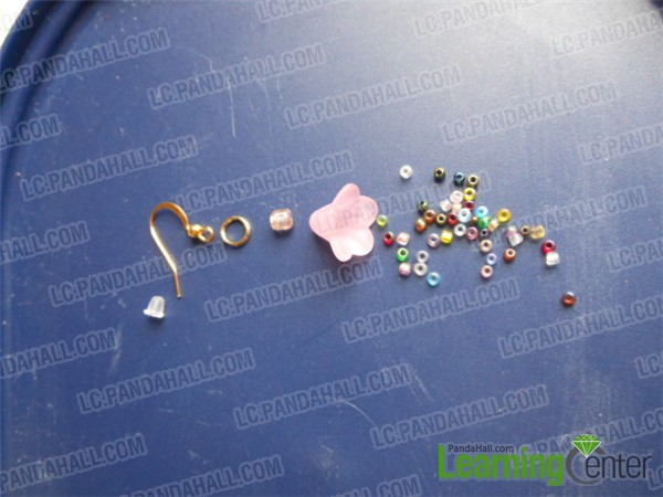 connec earring findings and beads