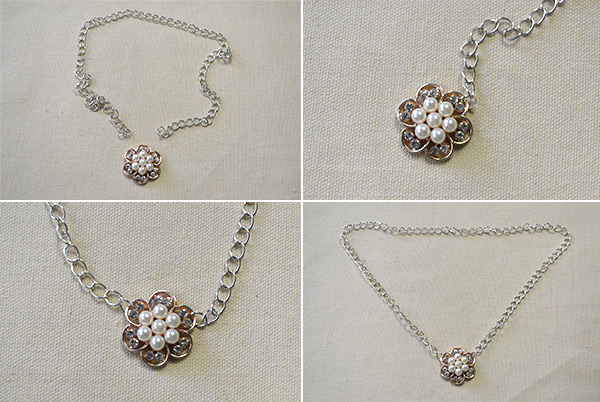 How to Make Easy Flower Bead Chain Necklace in 10 Minutes 1