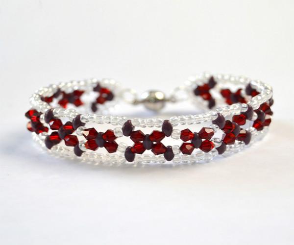 PandaHall Ideas on Making a Warm Color Beaded Bracelet