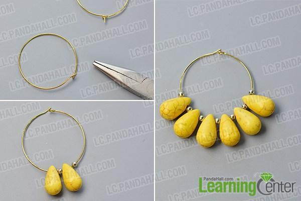 make the basic part of the hoop earrings