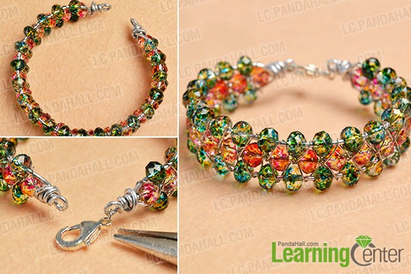 make the rest part of the green and red glass bead bracelet