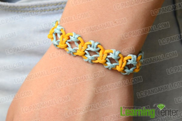 the well done lark's head knot friendship bracelet