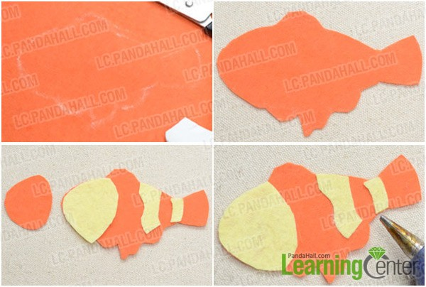 Step 1: Cut out felt fish