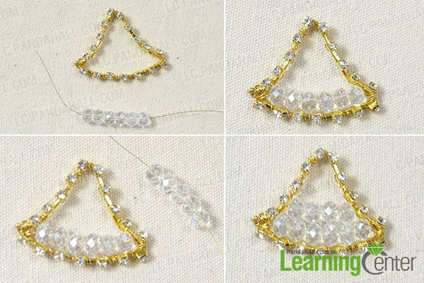 Attach crystal beads