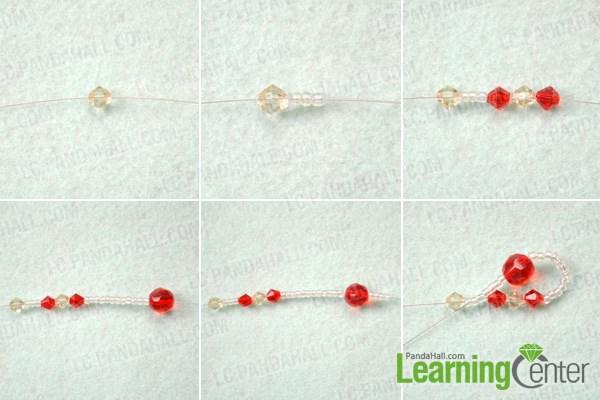 Make the half heart for beaded earrings
