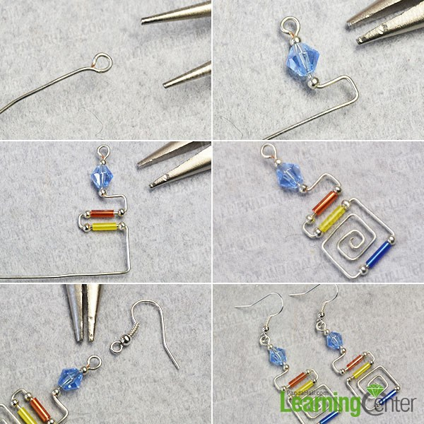 Make the wire wrapped earrings