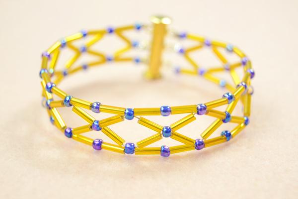 Diamond Bugle Bead Bracelet