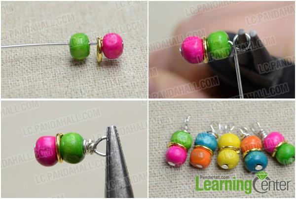 Step 1: Make dangles for rainbow loom earrings