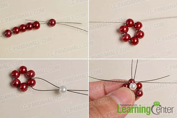 Make the pearl bead flower