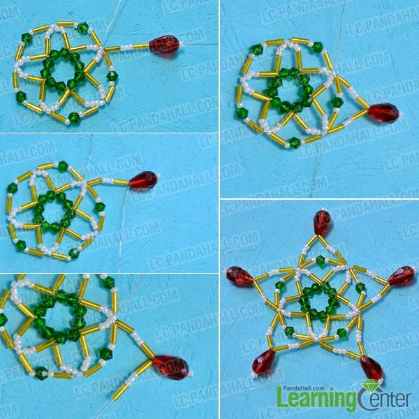 Bead snowflake pattern