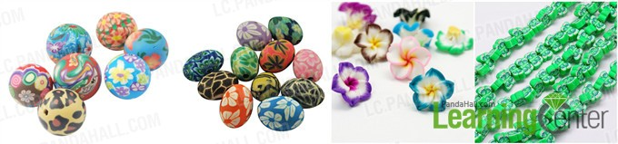 different shapes of polymer clay beads