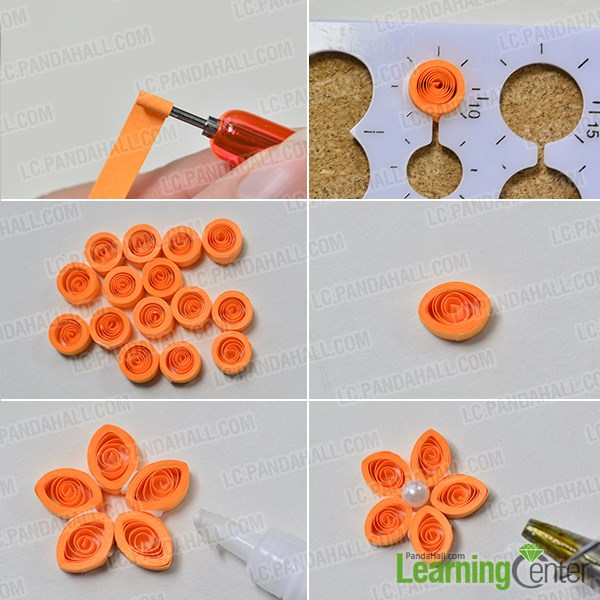 How to make girls chain necklaces with quilling flowers pandahall make another quilling flowers in the same ways step1 mightylinksfo