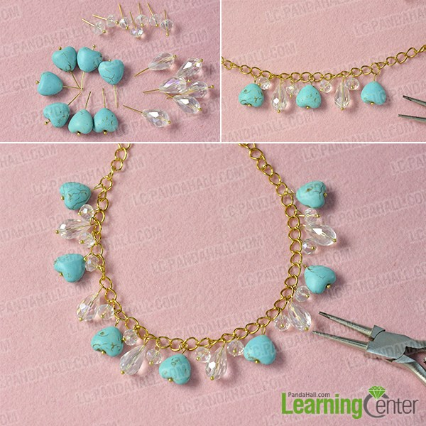 Make the first beaded chain