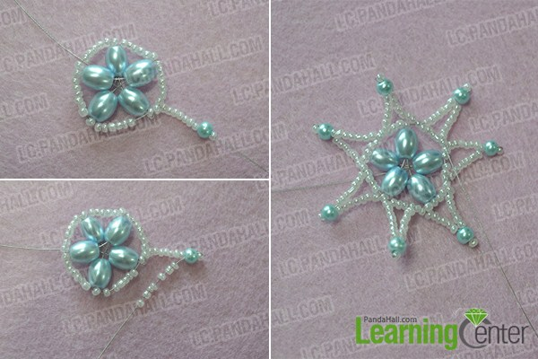 Add a beaded star to the center part