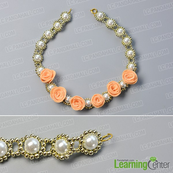 make the rest part of the pearl flower necklace