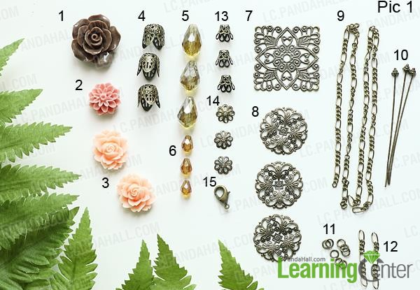 Material for making flower pendant necklace