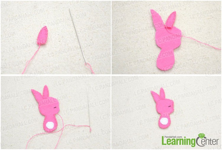 complete the felt bunny