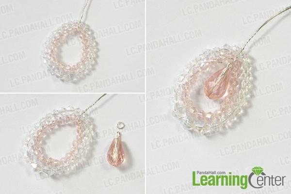 Finish the bling glass beaded drop earrings