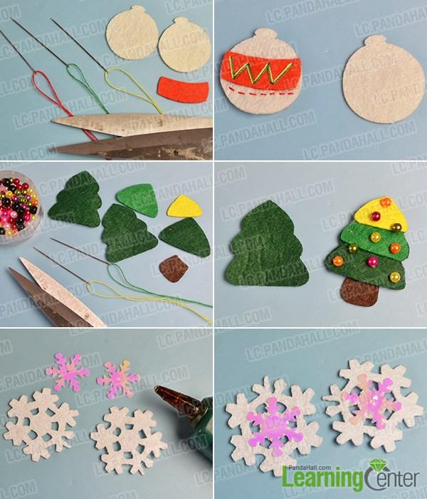 Make Christmas tree and snowflakes