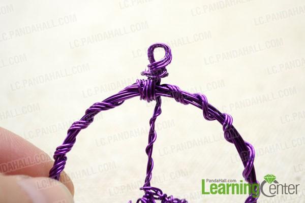 Make a wrapped loop at top