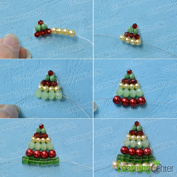 Finish the Christmas tree pattern