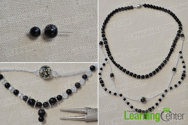 make the other two strands for the three strand black necklace3