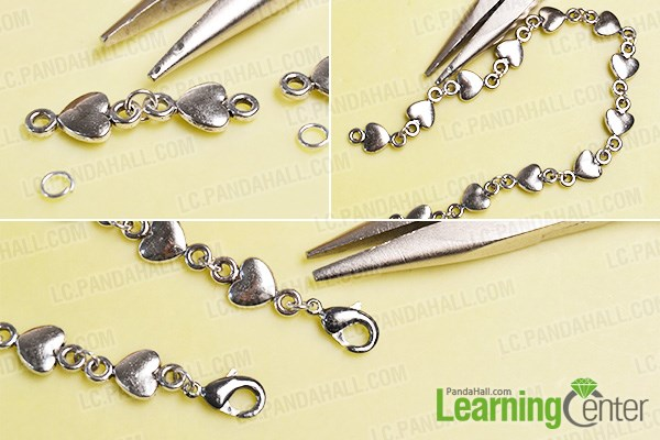 Make a heart lined chain