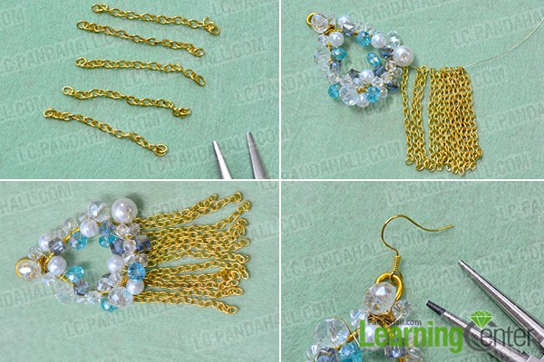 make the rest part of the bead hoop and chain tassel earring