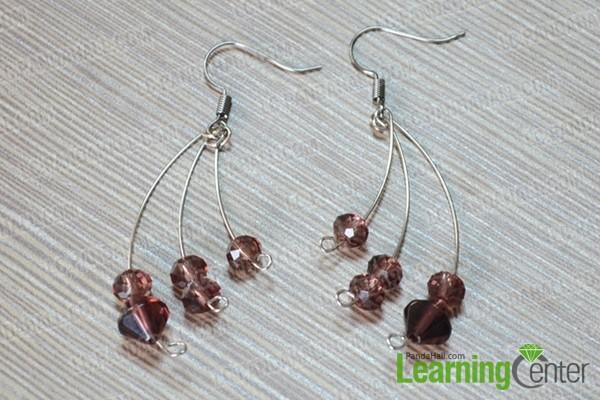 the finished handmade earrings