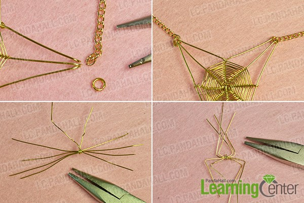 Make the fourth part of the spider necklace