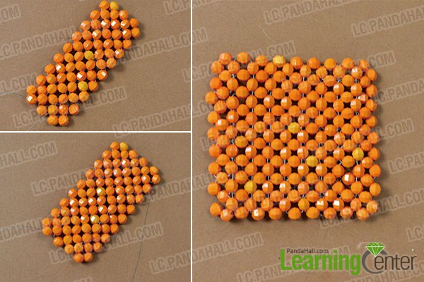 make the first part of the homemade beaded pen holder