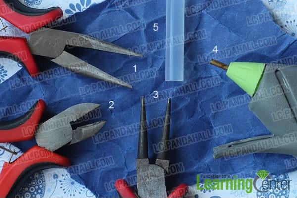 tools for making crystal dangle earrings