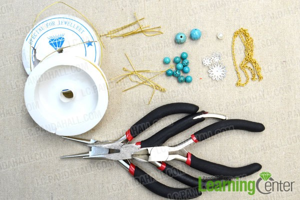 necessaries for making flower ear cuff earring