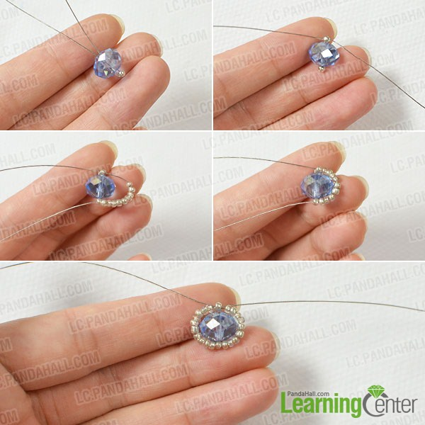 make the first part of the tube bead flower