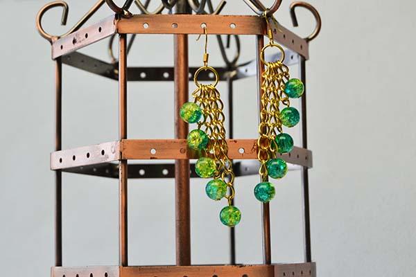 tassel chain earrings