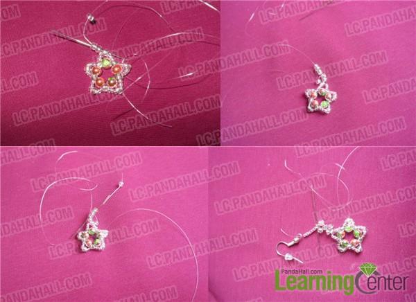 make the beaded part between earring peandant and earring hook