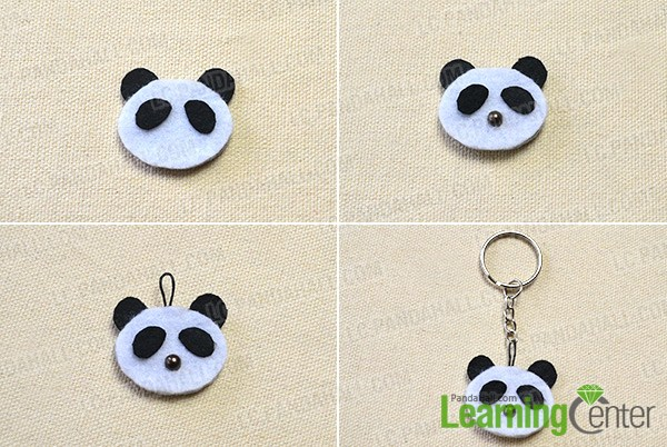 continue to make the panda pendant