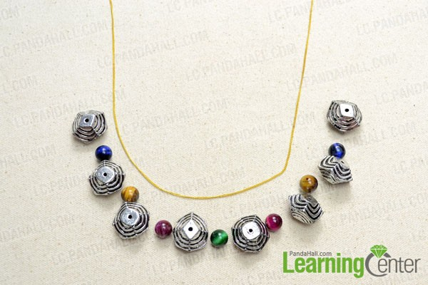 Arrange your selected beads in a pattern