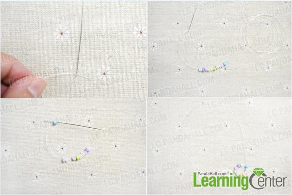 making a seed bead loop
