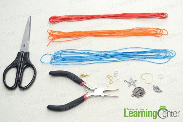 materials needed for making multi strand friendship bracelet