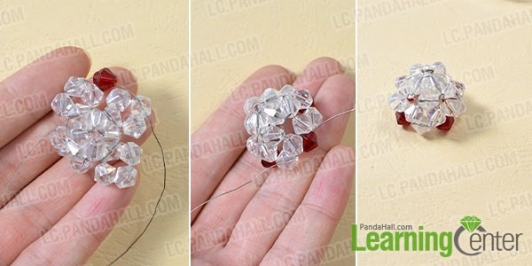 Add 6mm red glass beads