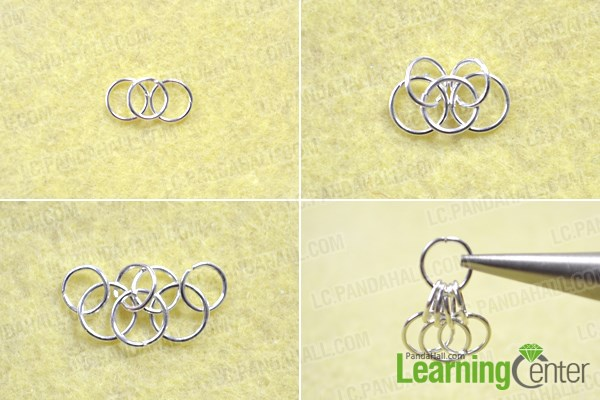 Make the butterfly wing for the jump ring earring patterns