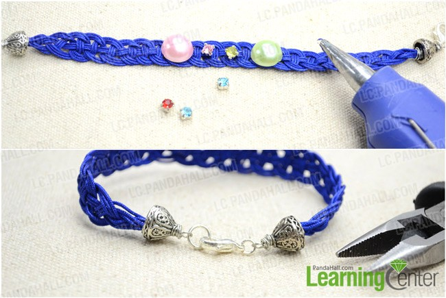 Step 3: Adorn bracelet with beads