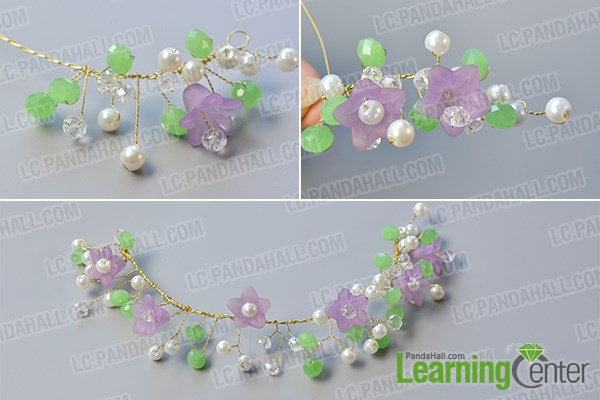 Finish the wire pattern with beads