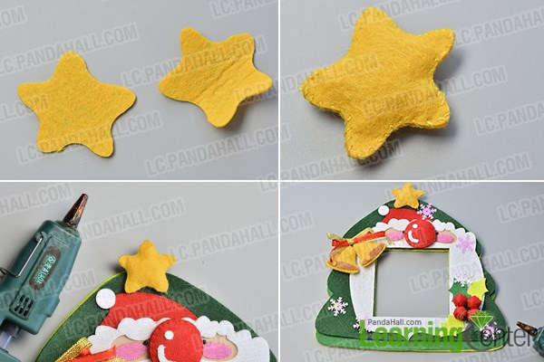finish the easy felt Christmas hanging decoration