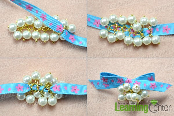 Make a bow for elastic bow ties