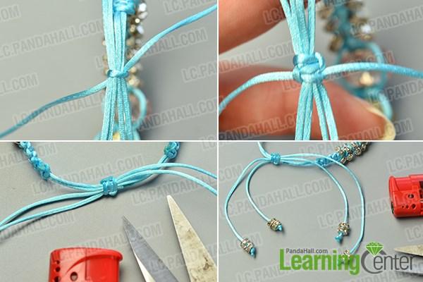 finish the nylon thread braided bracelet