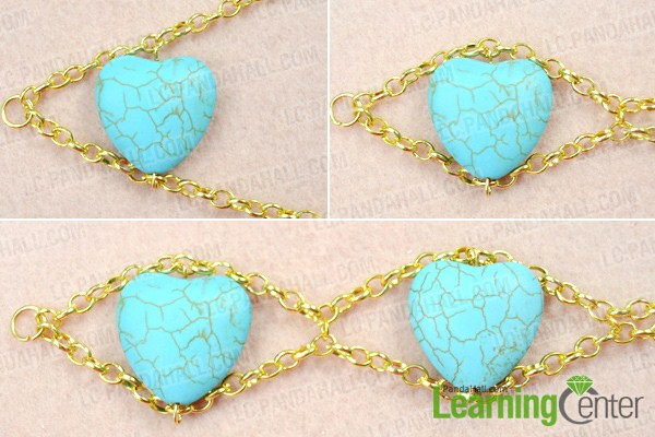 Make basic double gold chain necklace
