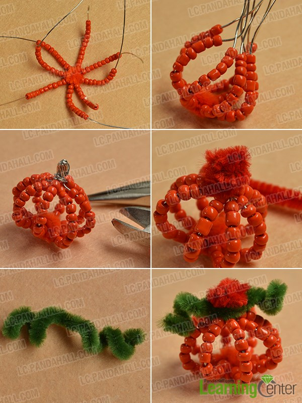 Finish the simple pumpkin pattern