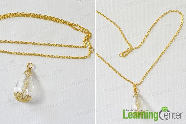 Attach a gold chain